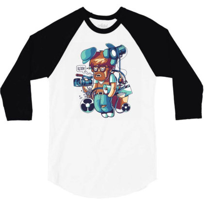 Cinema Director 3/4 Sleeve Shirt Designed By Maadart
