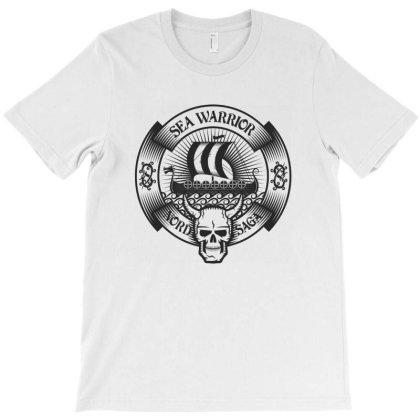 Sea Warrior, Nord Saga, Skull T-shirt Designed By Estore