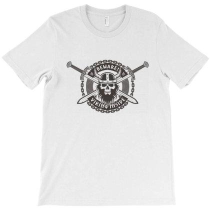 Beware, Viking Inside, Skull T-shirt Designed By Estore