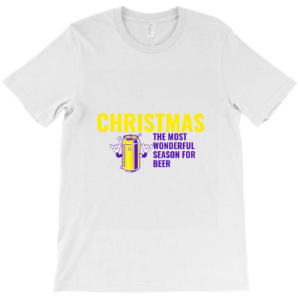 Christmas The Most Wonderful Season For Beer T-shirt Designed By Perfect Designers