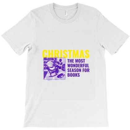 Christmas The Most Wonderful Season For Books T-shirt Designed By Perfect Designers