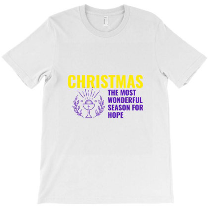 Christmas The Most Wonderful Season For Hope T-shirt Designed By Perfect Designers