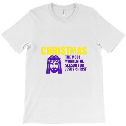 Christmas The Most Wonderful Season For Jesus Christ T-shirt Designed By Perfect Designers