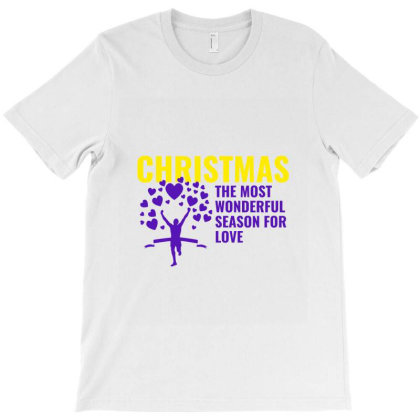 Christmas The Most Wonderful Season For Love T-shirt Designed By Perfect Designers
