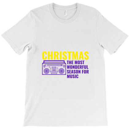 Christmas The Most Wonderful Season For Music T-shirt Designed By Perfect Designers