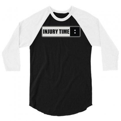 Injury Time 3/4 Sleeve Shirt Designed By Mdk Art