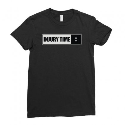 Injury Time Ladies Fitted T-shirt Designed By Mdk Art