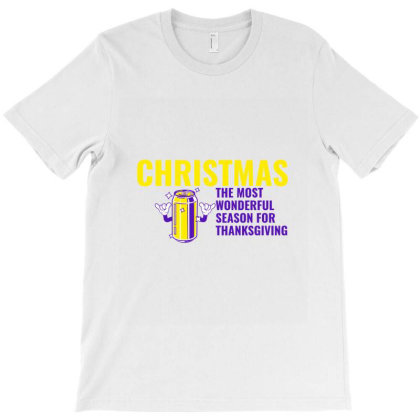 Christmas The Most Wonderful Season For Thanksgiving With Beer T-shirt Designed By Perfect Designers