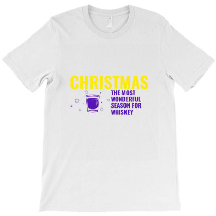 Christmas The Most Wonderful Season For Whiskey T-shirt Designed By Perfect Designers