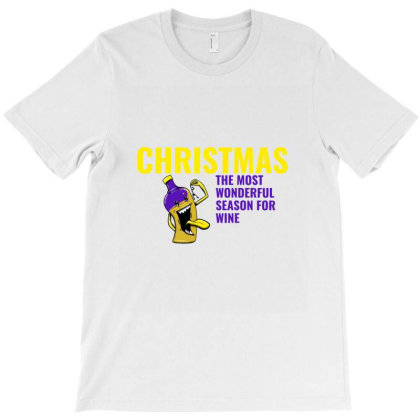 Christmas The Most Wonderful Season For Wine T-shirt Designed By Perfect Designers