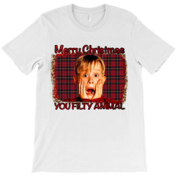 Merry Christmas You Filthy Animal T-shirt Designed By Bettercallsaul