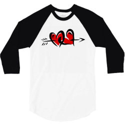 love love 3/4 Sleeve Shirt   Artistshot