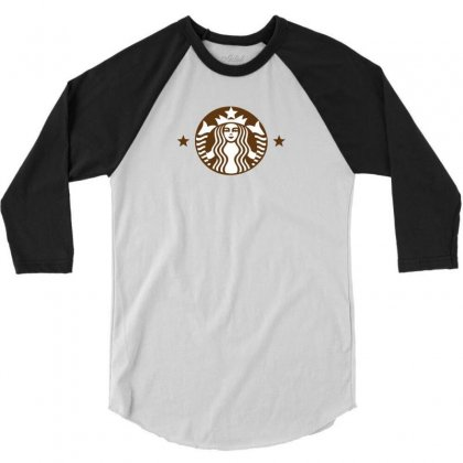 Starbucks 3/4 Sleeve Shirt Designed By Sabriacar