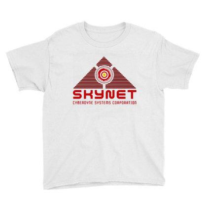 Skynet Corporation Youth Tee Designed By Leona Art