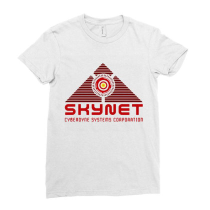 Skynet Corporation Ladies Fitted T-shirt Designed By Leona Art
