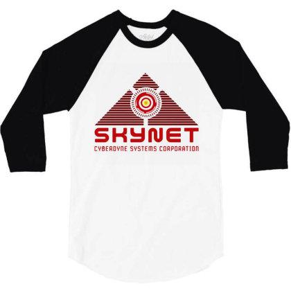 Skynet Corporation 3/4 Sleeve Shirt Designed By Leona Art