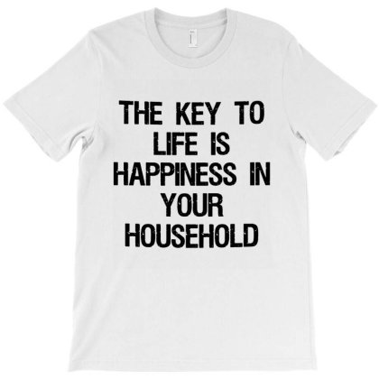 The Key Of Life Happiness T-shirt Designed By Leona Art