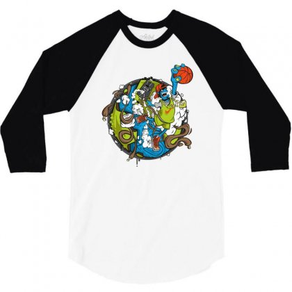 Jumper 3/4 Sleeve Shirt Designed By Mdk Art