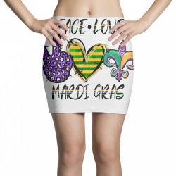 peace love mardi gras Mini Skirts | Artistshot