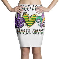 peace love mardi gras Pencil Skirts | Artistshot
