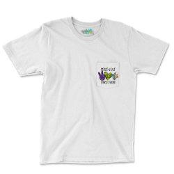 Peace Love Mardi Gras Pocket T-shirt Designed By Badaudesign