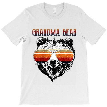 Grandma Bear Vintage Retro T-shirt Designed By Black And Pink