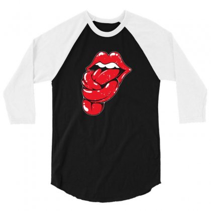 Knot Tongue 3/4 Sleeve Shirt Designed By Mdk Art
