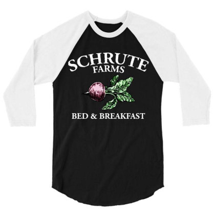 Bed And Breakfast Office Dwight Funny 3/4 Sleeve Shirt Designed By Jacobs