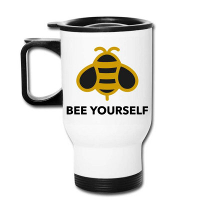 Bee Yourself Travel Mug Designed By Jasmine Tees