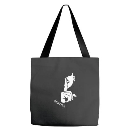 Ssttt!! Keep Silent Tote Bags Designed By Wahidin77