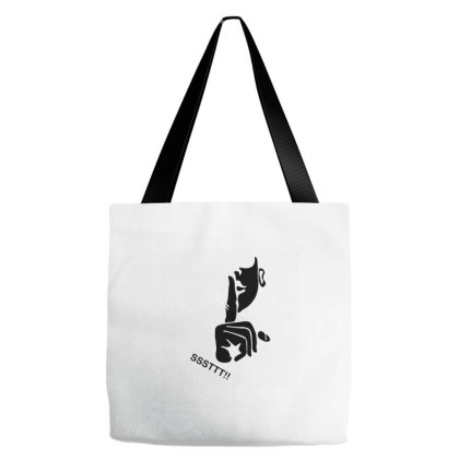 Ssttt!! Keep Silent - Black Tote Bags Designed By Wahidin77