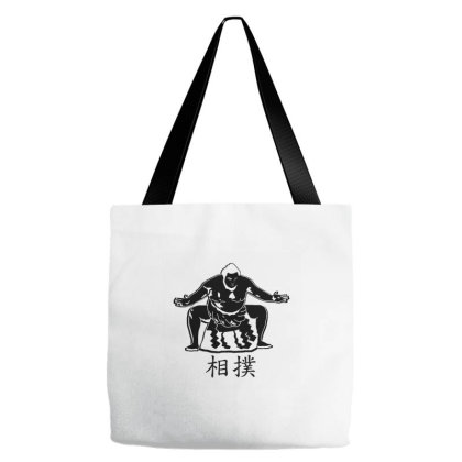 Sumo Fighter - Black Tote Bags Designed By Wahidin77