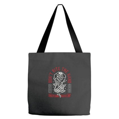 Don't Bite The Hand That Feeds Tote Bags Designed By Wahidin77