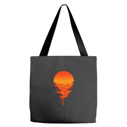 Sunset Melted Tote Bags Designed By Wahidin77