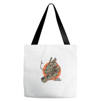Sushi Dragon Tote Bags Designed By Wahidin77