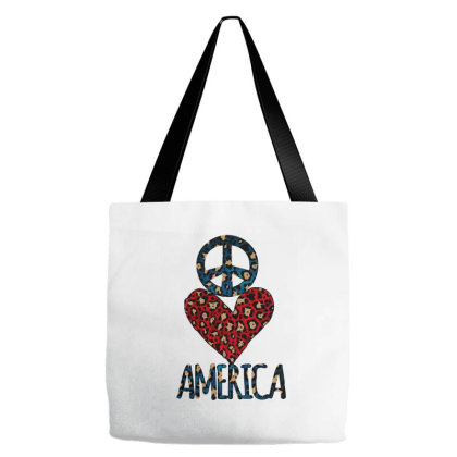 Peace Love America Tote Bags Designed By Bettercallsaul