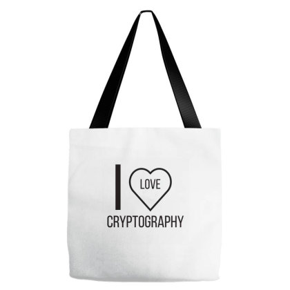 I Love Cryptography Tote Bags Designed By Artmaker79