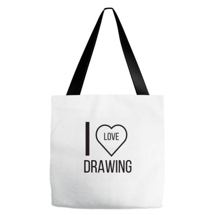 I Love Drawing Tote Bags Designed By Artmaker79
