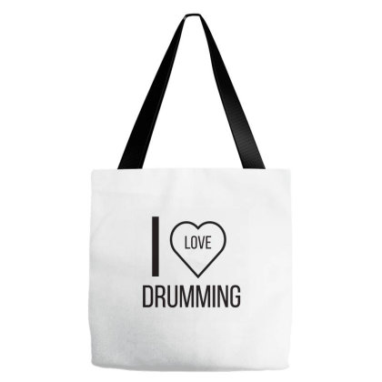 I Love Drumming Tote Bags Designed By Artmaker79