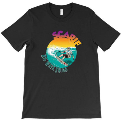 Big Wave Surf Squad T-shirt Designed By Paulsn