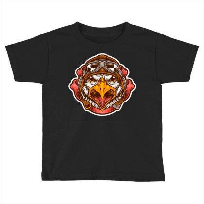 Pilot Eagle Toddler T-shirt Designed By Maadart