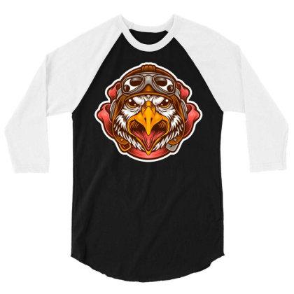 Pilot Eagle 3/4 Sleeve Shirt Designed By Maadart