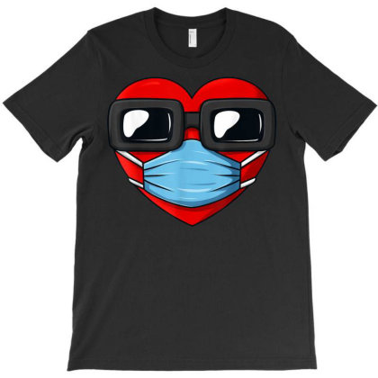 Heart In A Mask Funny Valentines Day Gift, Funny T-shirt Designed By Ryan2204