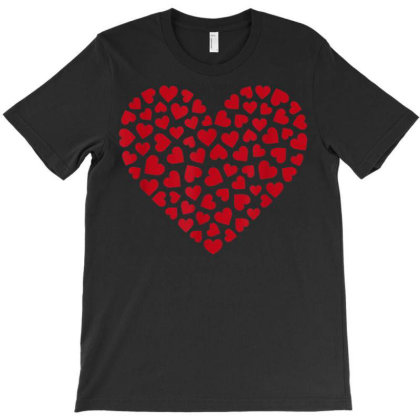 Love T-shirt Women Men Kids Red Hearts Valentines Day Graphic T-shirt Designed By Tegan8688