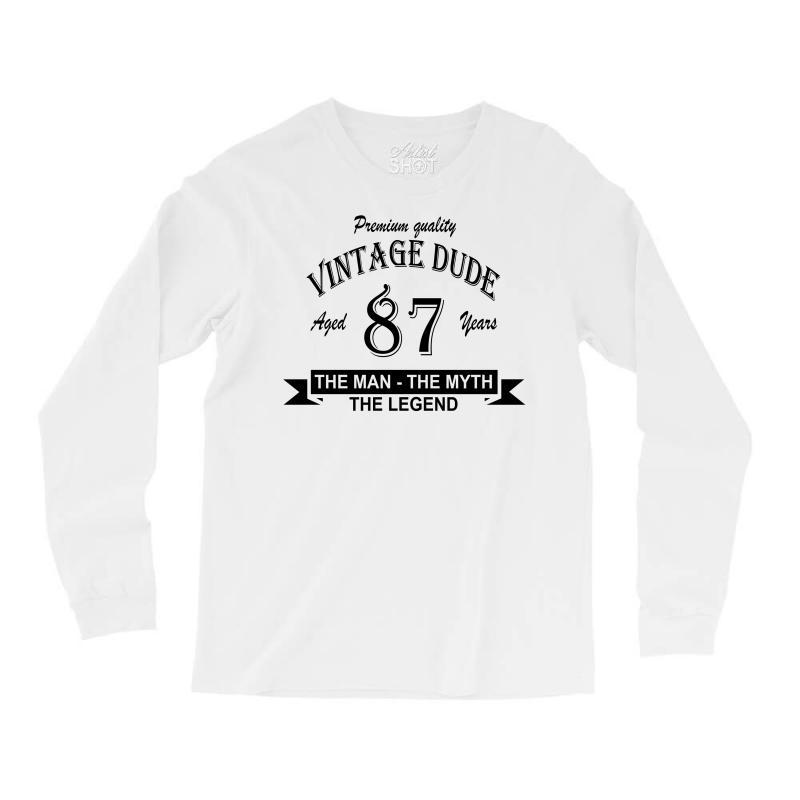 Aged 87 Years Long Sleeve Shirts | Artistshot