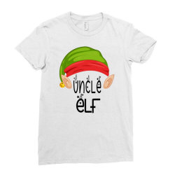 Uncle Elf Christmas Gift Ladies Fitted T-shirt Designed By Loarrainenielsen