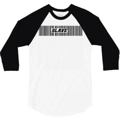 Slave Bar Code 3/4 Sleeve Shirt Designed By Ismi