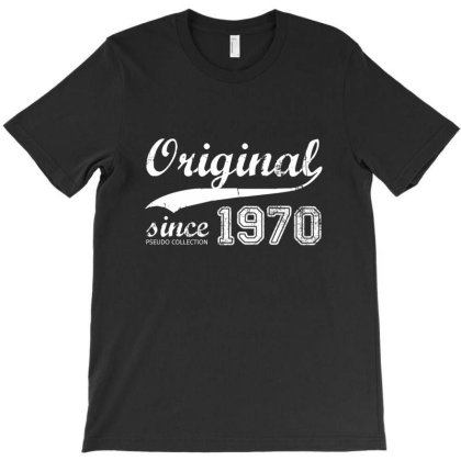 Vintage Retro 1970 Birthday T-shirt Designed By Pseudocollection