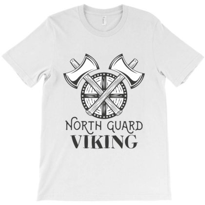 North Guard, Viking, Skull T-shirt Designed By Estore