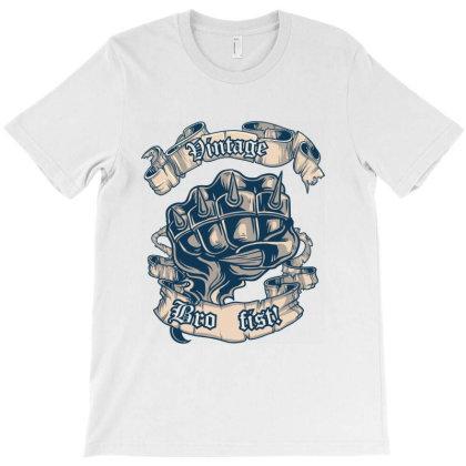 Vintage Bro Fist T-shirt Designed By Estore